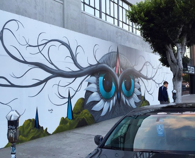 Jeff Soto creates a beautiful piece on LA Brea in Los Angeles
