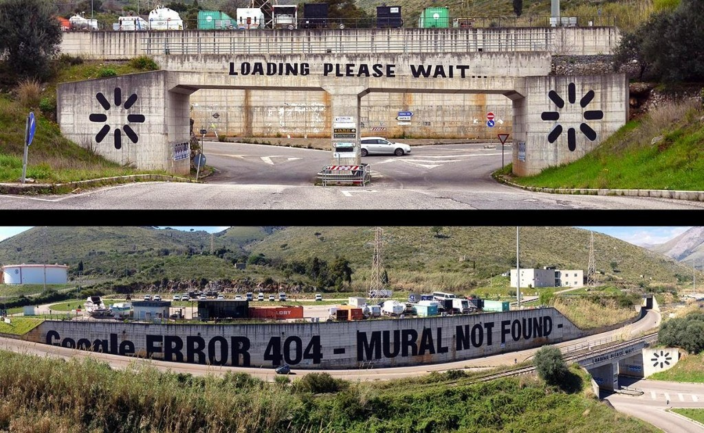 "MTO paints ""We Live On Google Earth"", a new piece in Gaeta for Memorie Urbane"