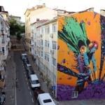 Deih unveils a fantastic mural in Istanbul, Turkey