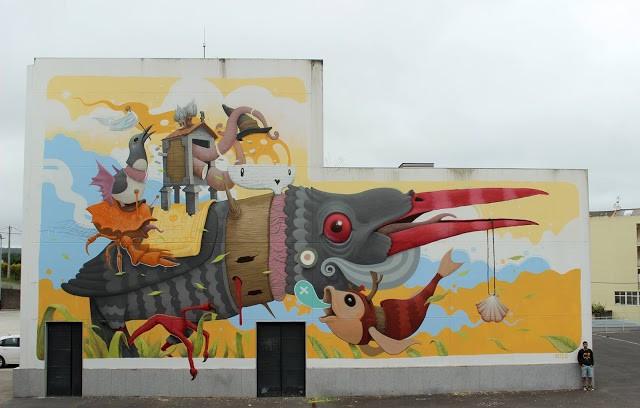 Dulk creates a new piece for Rexenera Festival in Carballo, Spain