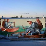 "Fintan Magee paints ""Road To Nowhere"", a new mural for Public '15 in Perth, Australia"