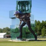 """""""Moving the Pointless Monument"""", an incredible piece by Fintan Magee in Werchter, Belgium"""