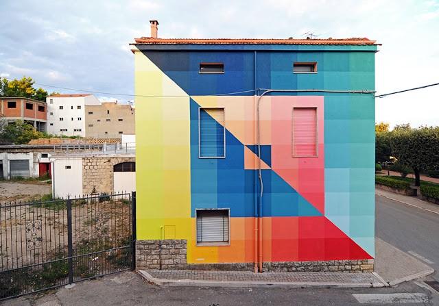 Alberonero unveils a new mural in Santa Croce di Magliano, Italy