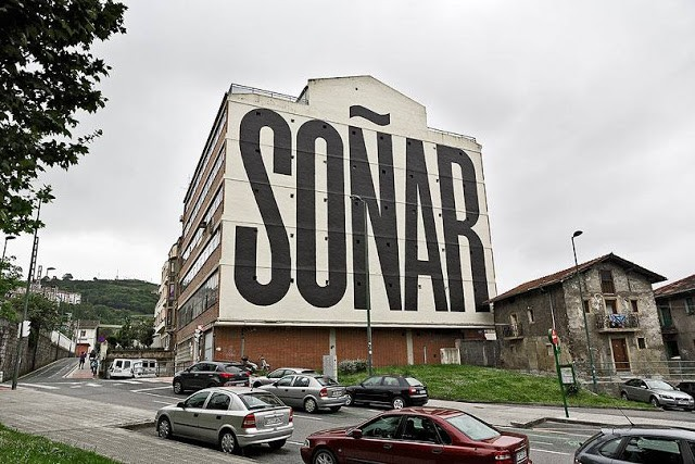 """Soñar"", a gigantic mural by SpY in Bilbao, Spain"