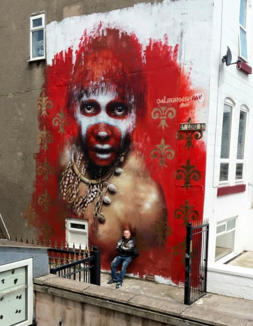 Dale Grimshaw creates a new piece in Blackpool, UK