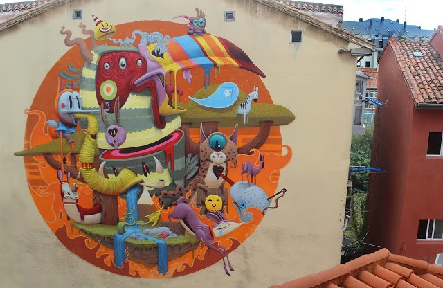"""Save Yourself"", a new mural by Dulk in Santander, Spain"