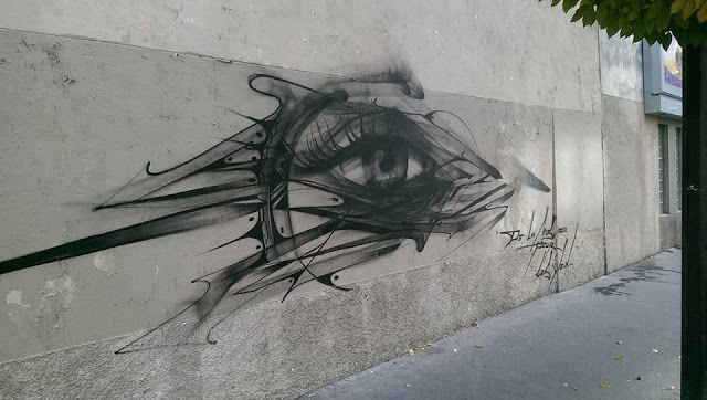 """Music For The Eyes"", a new street piece by Hopare in Paris, France"