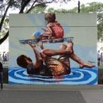 "Fintan Magee ""High Tide"" New Mural – Brisbane, Australia"