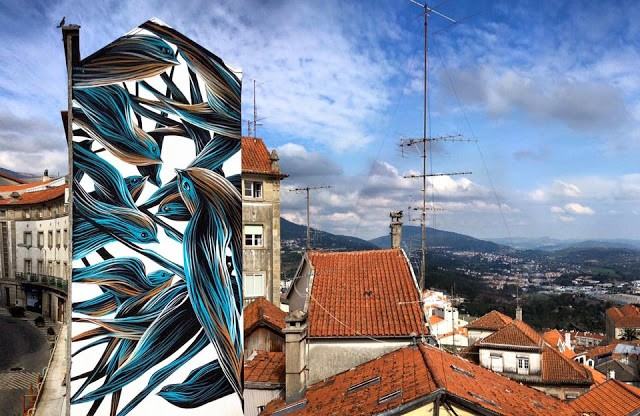 Pantonio creates a stunning artwork in Covilhã, Portugal