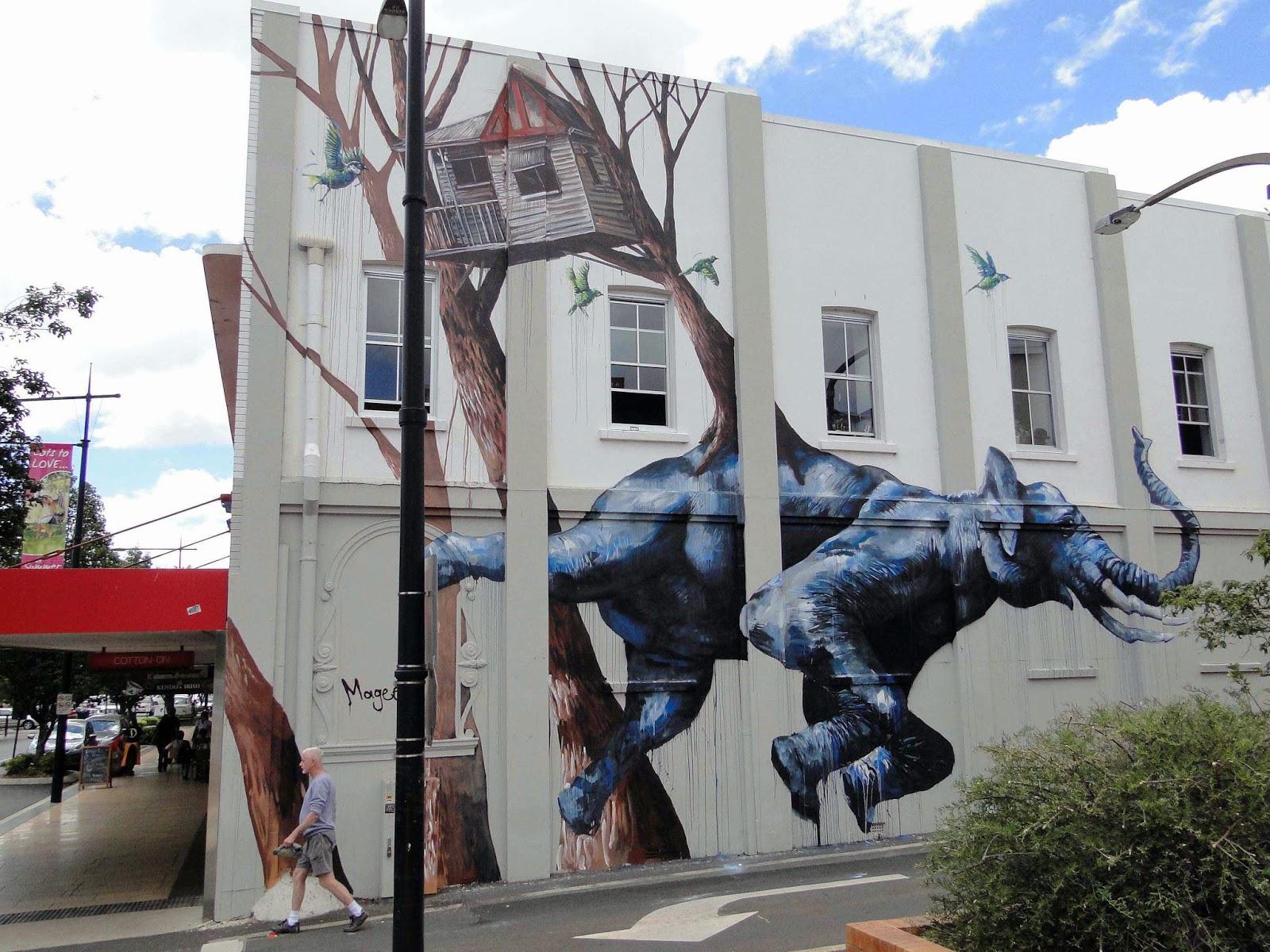 Fintan magee new mural toowoomba australia for Mural street art
