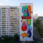 Sixe Paredes New Mural For LGZ Festival In Moscow, Russia