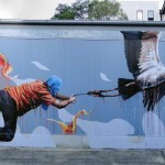 "Fintan Magee ""Discovering Flight"" New Mural – Leichardt, Sydney"