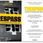 Shepard Fairey DJ'ing Friday night at Art Basel Miami for Trespass book launch