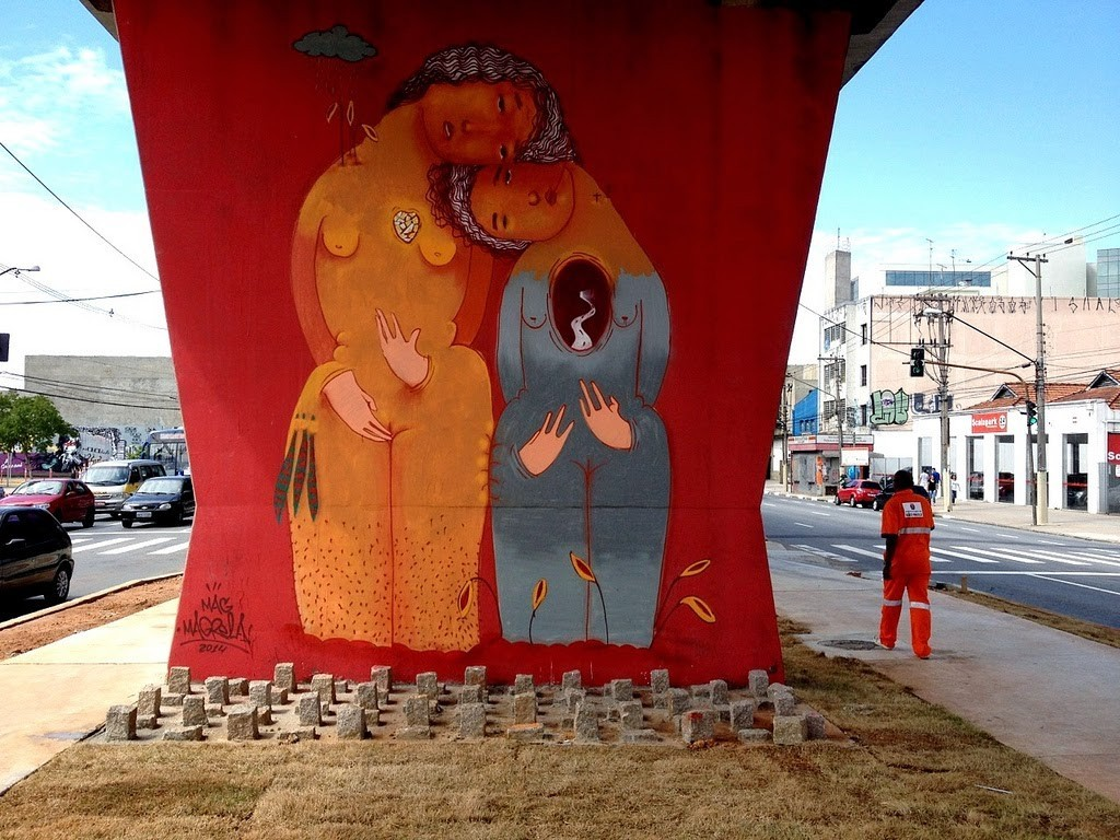 "Mag Magrela ""Axexê"" New Mural – Sao Paulo, Brazil"