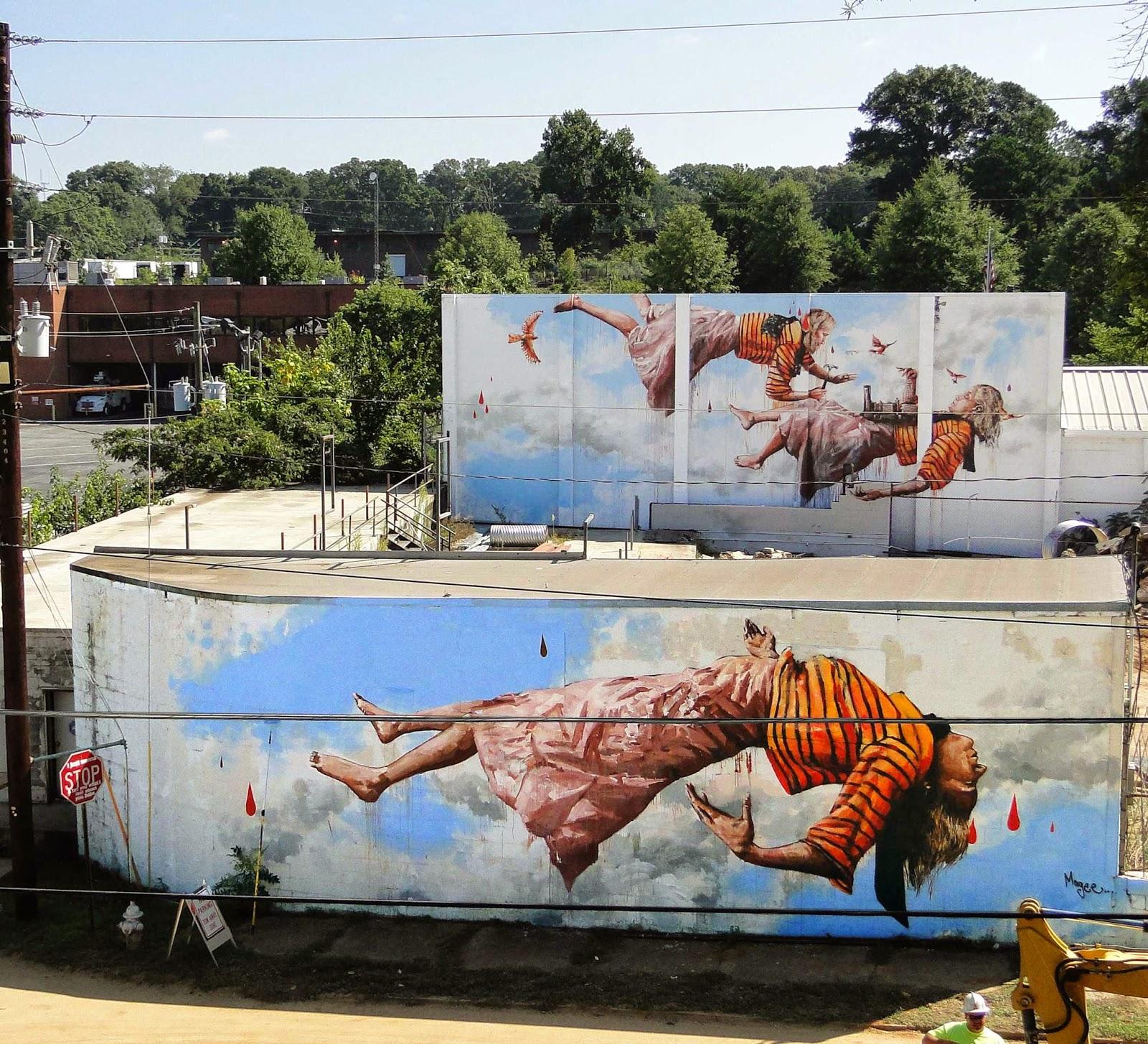 Fintan Magee New Mural - Atlanta, USA