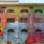 Blu unveils a majestic mural on Via Del Porto Fluviale in Rome, Italy