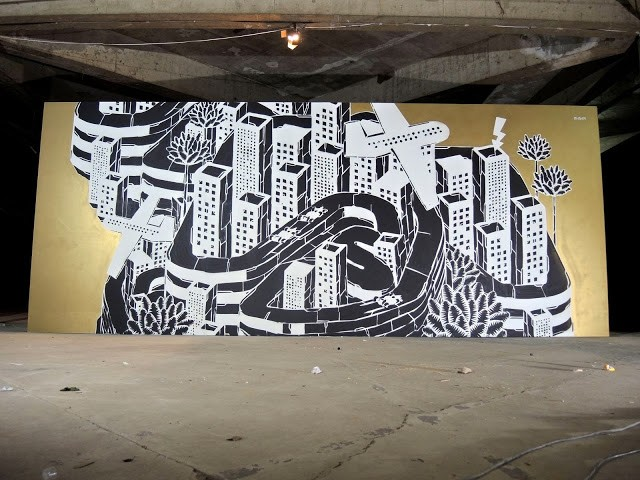 M-City New Indoor Mural For Burn Yard & Lotus F1 Team – Sao Paulo, Brazil