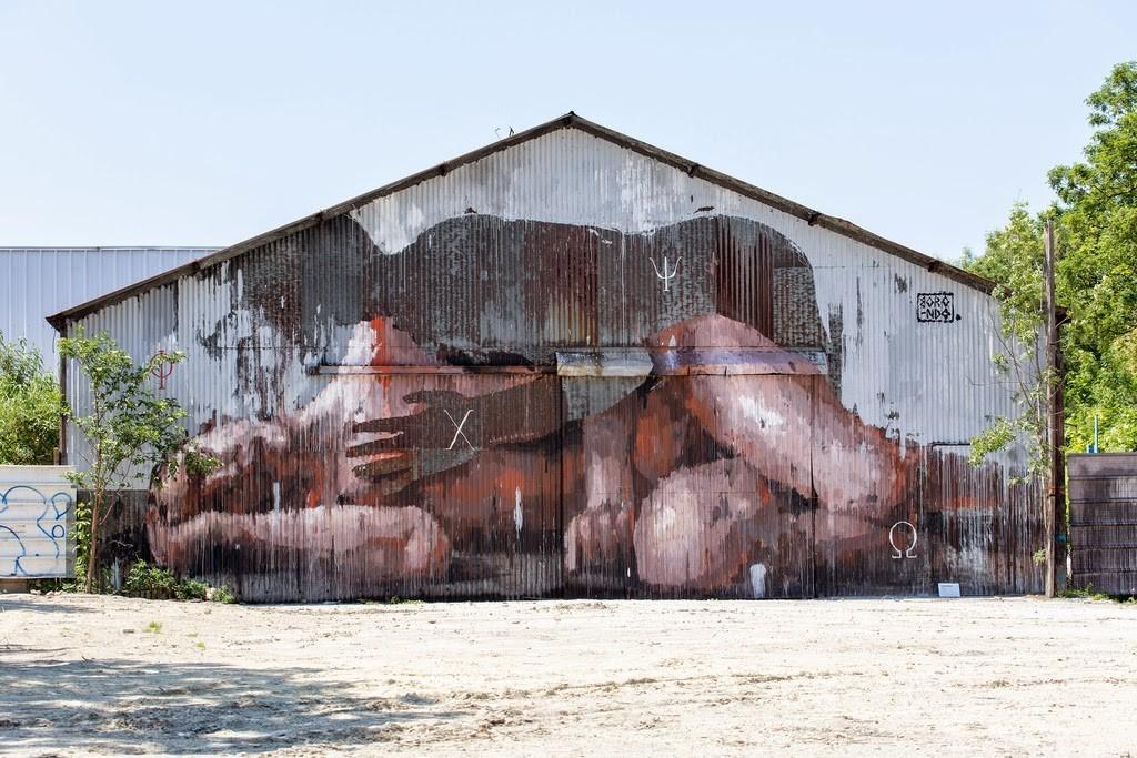 "Borondo ""Transit"" New Mural – Aubervilliers, France"