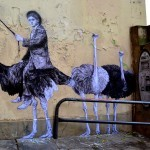 "Levalet unveils ""Locomotion"", a new piece on the streets of Paris, France"
