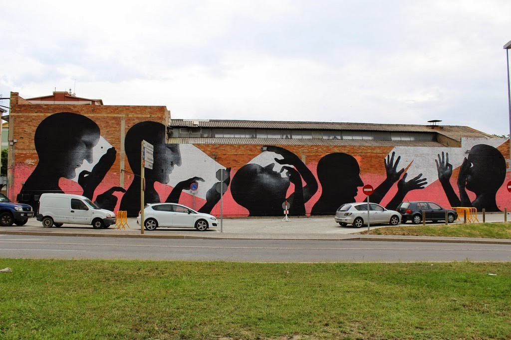 Sam3 New Mural For Milestone '14 – Girona, Spain
