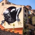 """Sr. X """"Bacchus"""" New Mural – Giardini-Naxos, Sicily"""
