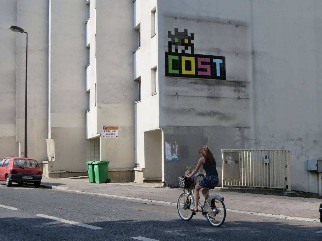 Invader x COST New Street Piece – Paris, France