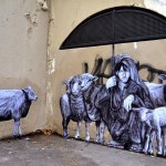 "Levalet unveils ""The Shepherd"", a new piece in Paris, France"