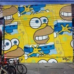 """HomerBob"" a new piece by Jerkface in Bushwick, New York City"