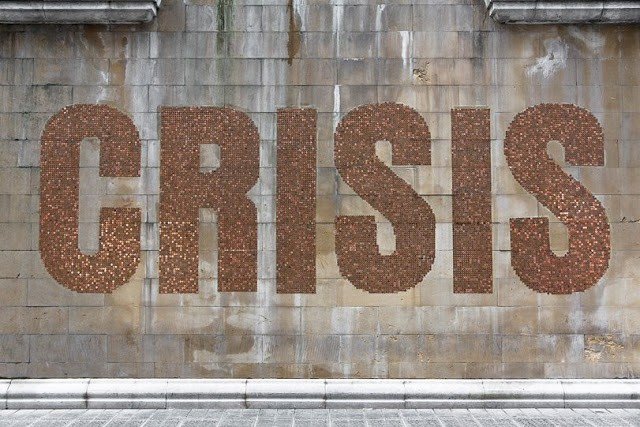 """Crisis"", a new installation by SpY in Bilbao, Spain"