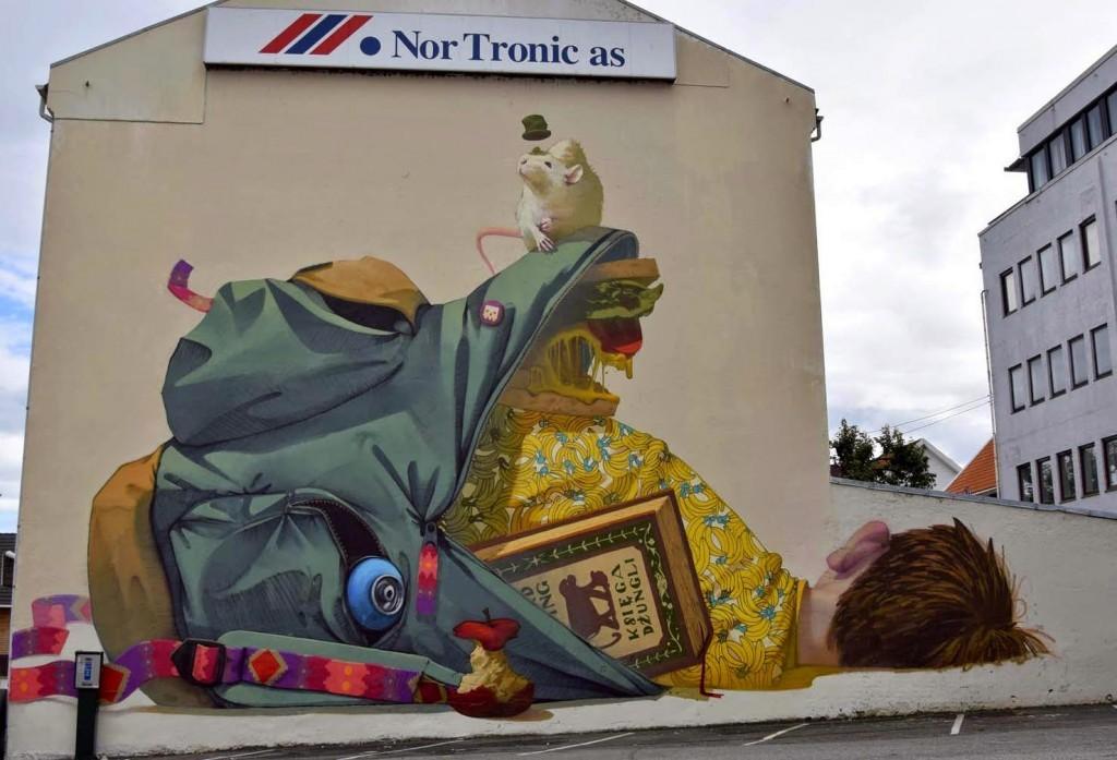 Etam Cru New Mural For Nuart 2014 – Stavanger, Norway