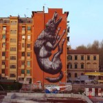 ROA New Mural For Avanguardie Urbane – Rome, Italy