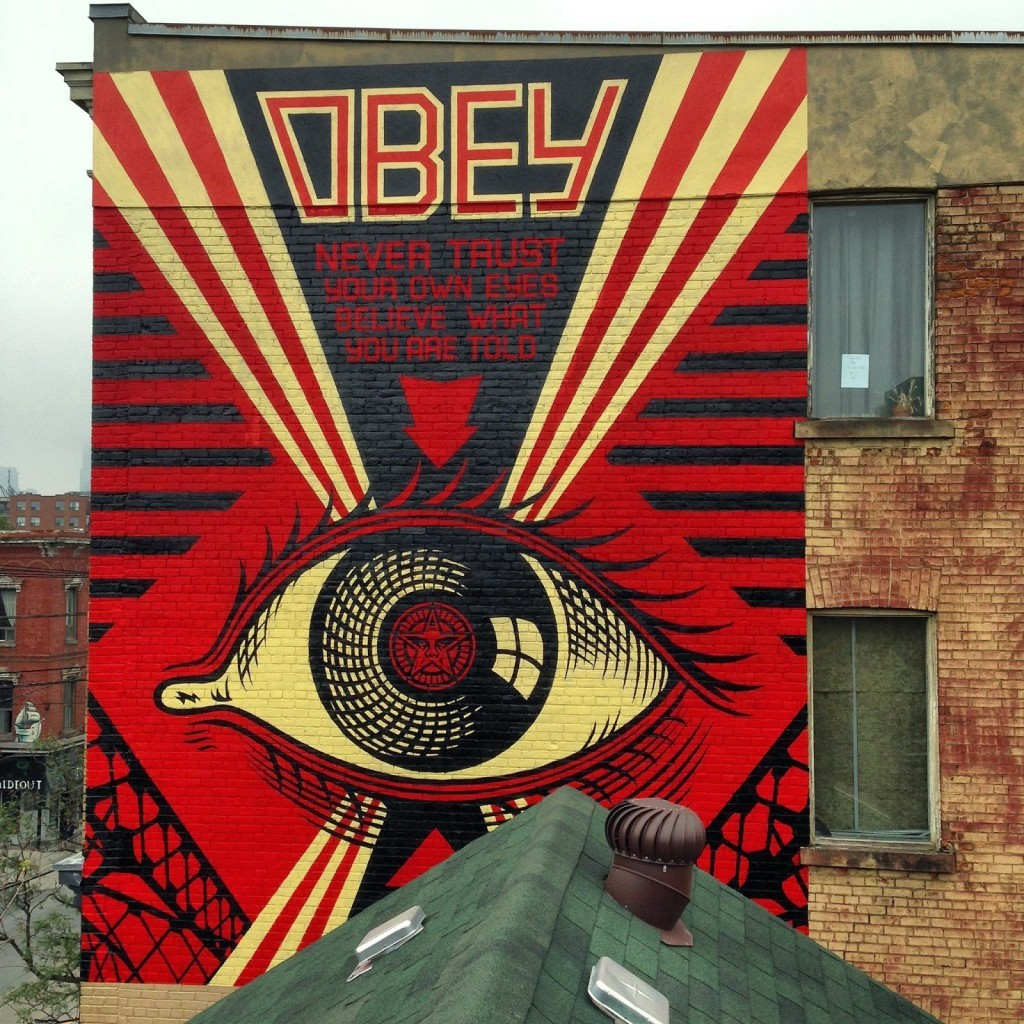 Shepard Fairey paints a series of new murals in Toronto, Canada