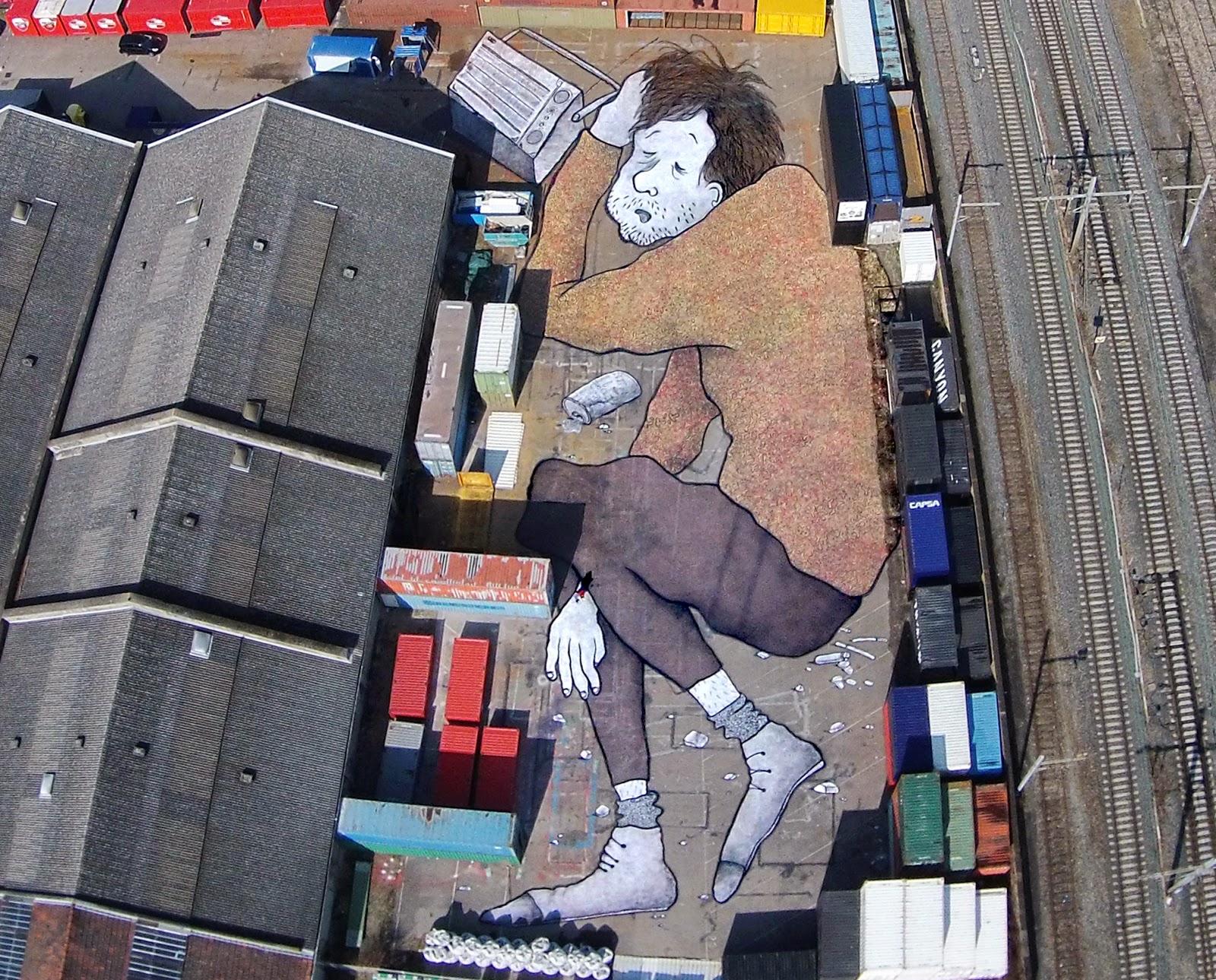 Ella & Pitr create a giant new piece in Lyon, France