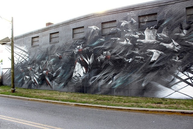 """Migratory System"", a new mural by Li-Hill in Jersey City"