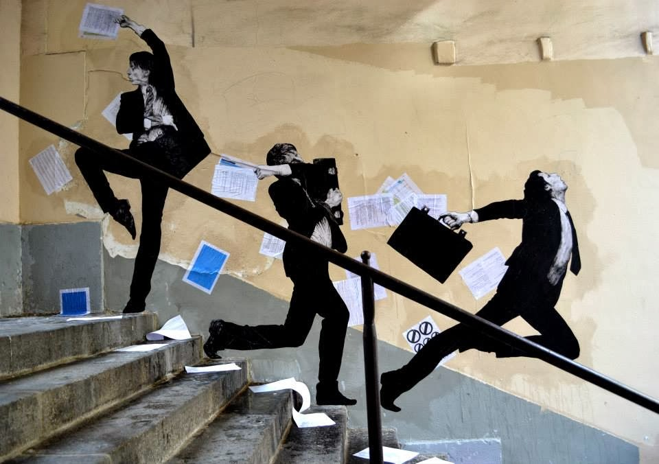 "Levalet ""Fly Away"" New Mural - Paris, France"