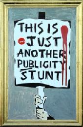 Banksy's 'This Is Just Another Publicity Stunt' Turnip Prize Submission