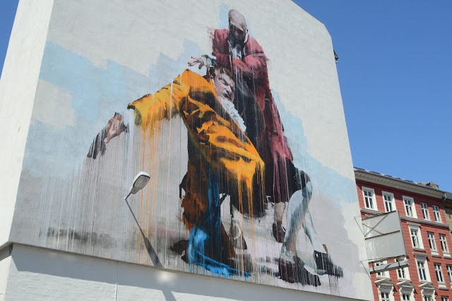 Conor Harrington unveils a new piece in Copenhagen, Denmark