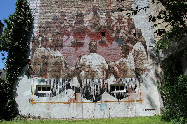Borondo creates a new mural in Copenhagen, Denmark