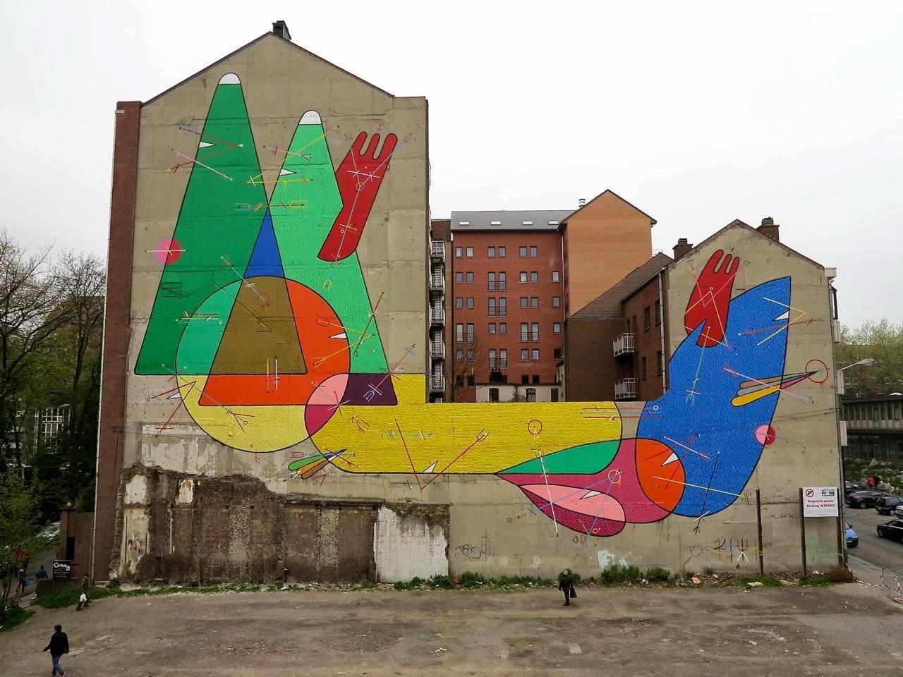 Sixe Paredes New Mural For Asphalt – Charleroi, Belgium