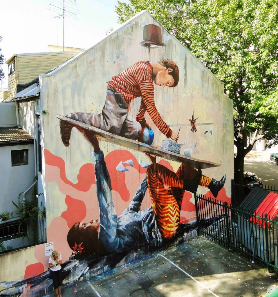 "Fintan Magee ""Support"" New Mural – Wooloomooloo, Sydney"