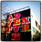 "Ben Eine ""Adventure"" New Mural In Progress, Japan"