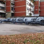 """Phlegm """"Calibrating The Seeing Device"""" New Mural In Zagreb, Croatia"""