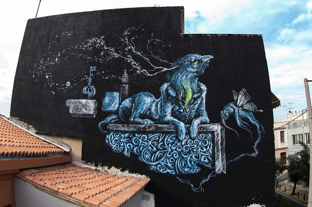 Kraser New Street Art In Athens, Greece