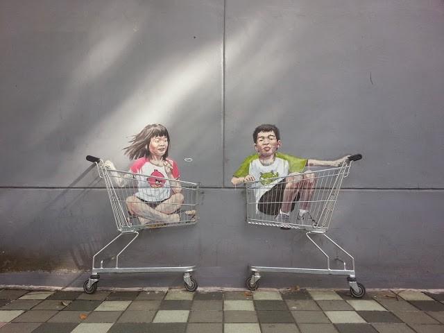 Ernest Zacharevic New Street Art - Singapore