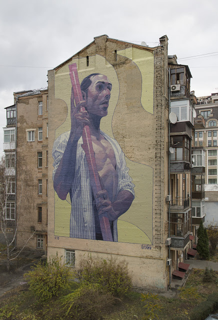 Aryz, a new mural in Kiev, Ukraine