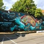 Nychos x DXTR New Mural In Copenhagen, Denmark