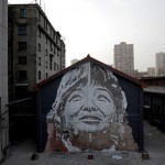 Vhils New Mural In Shanghai, China