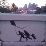 "Banksy New ""KITE 3"" Street Piece Appears in Los Angeles"