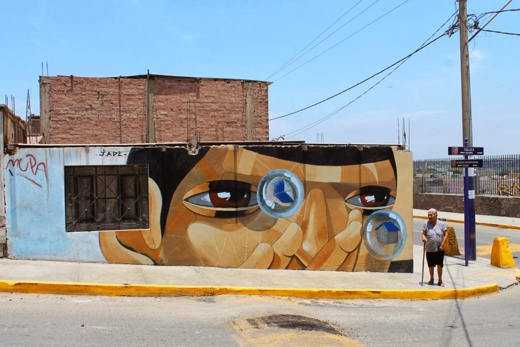 "JADE ""Bubble Blower"" New Mural – Lima, Peru"