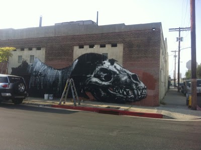 ROA New Mural Work In Progress Los Angeles For LAFreewalls
